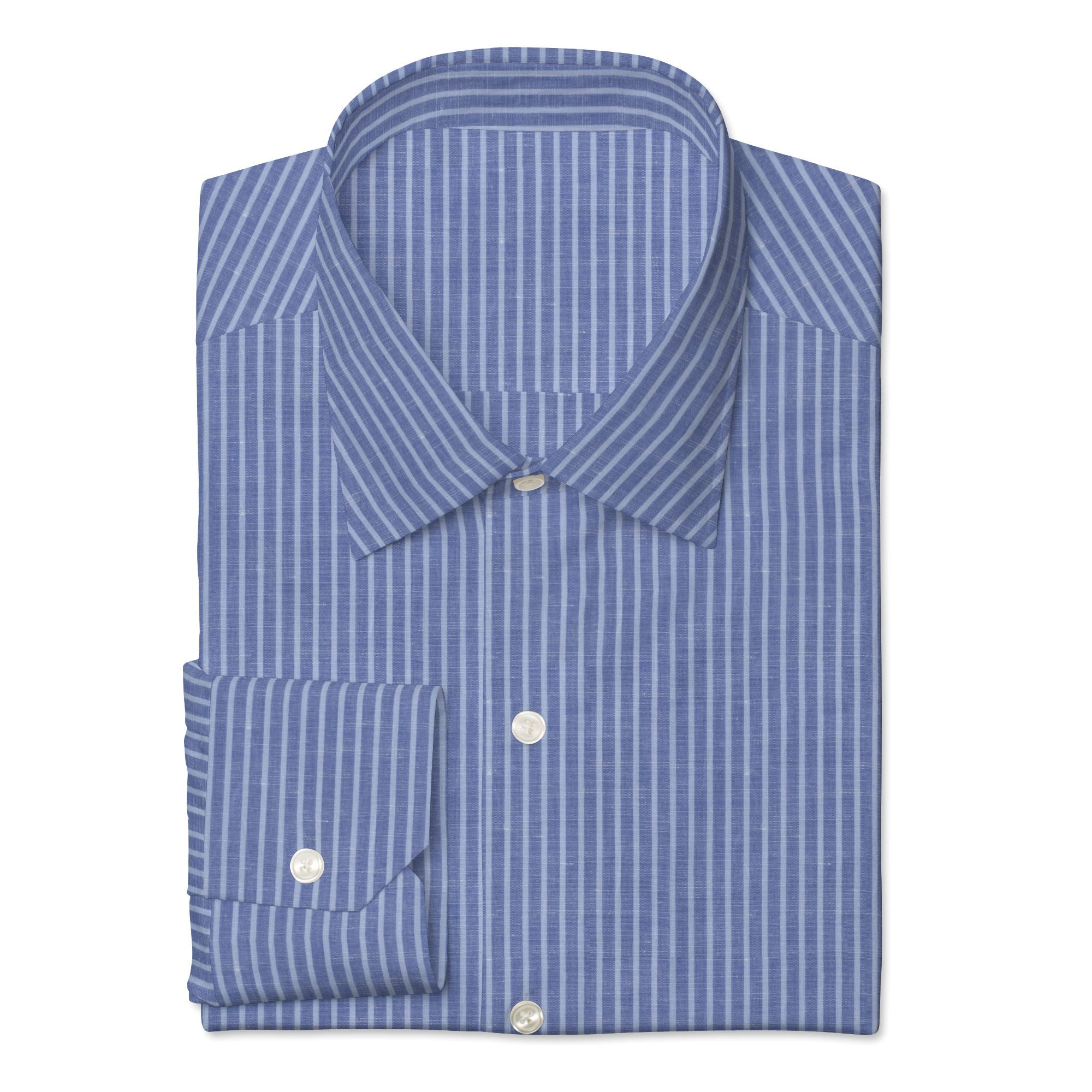 Blue/Light Blue Linen Blend Stripe