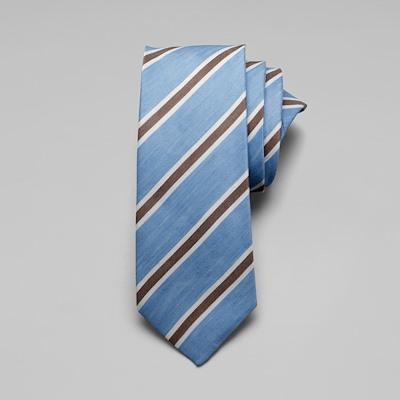 Linen Stripe Tie - Sky
